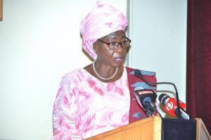 Vice President Dr. Isatou Touray officailly opening the Signing-in ceremony of the National Health Compact