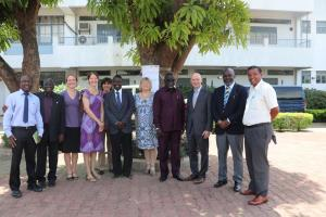 US Amb in a group photo with Hon Minister of Health, WHO Rep, CDC Country Director and other senior officials