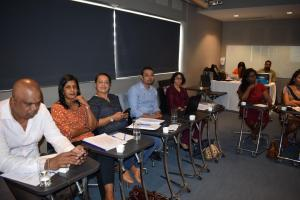 Laboratory professionals participating in the training of trainers on Quality Management Systems from 18-22 January 2021 in Mauritius