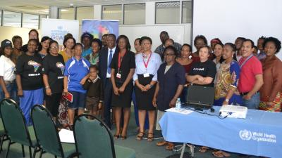 Group Photo of  UN Staff in Namibia who attended the session on mental health in the workplace