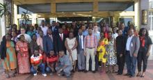 Group photo with Hon Tolbert Nyenswah Director General NPHIL (Front row 6th from L)