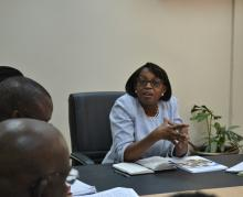 Dr Moeti responds to questions from staff in WCO Kenya