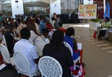 RD Dr Moeti during a townhall engagement with young people at the AHAIC meeting, March 6