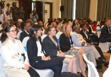 5-Participants and WHO personnel during the launch of the malaria vaccine pilots in Nairobi
