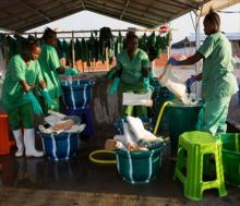 Ebola treatment centre in Maghuraka, Sierra Leone UNMEER/Martine Perret