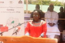 Hon. SaffieLowe-Ceesay launching the Tobacco Control Act