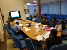 WHO AFRO Consultants facilitating the KPI training to KPI focal points and coordinator