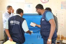 WHO central team on supportive supervision during Measles campaign