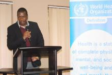 Senior Medical Officer—Clinical Dr Michael Lukhele making his remarks on behalf of the ministry of health.