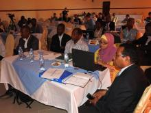 Participants during the training