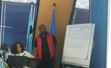 Social Mobilization Focal Point making a presentation
