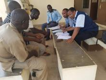 Part of the external review team conducting field assessment in the former Northern Bahr el Ghazal State. Photo WHO