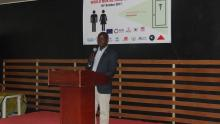 Dr Mogga delivering the RDs message on behalf of Mr Liyosi WR a.i. Photo:WHO