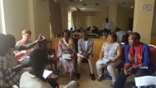 Group work to critically review the different thematic areas on RMNCAH