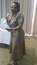 OIC Botswana, Ms K Moakofhi, giving closing remarks