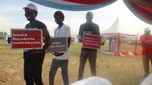 Youth moving around with the key message of the WAD