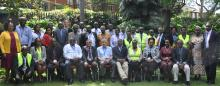 International Certification Team for Guinea Worm in a group picture in Nairobi