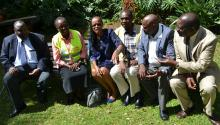 The Kenya National Guinea Worm Certification Committee led by Dr Njeri Wamae (3rd left)