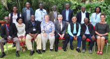 The GW ICT with WR Dr Rudi Eggers(4th left seated), lead, Dr Joel Breman (5th left) and Dr Ashok Kumar (next to him)