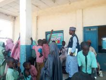WHO personnel supervising Yellow fever vaccination campaign in Zamfara State, Nigeria.