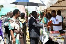 The Vice President visits stalls at the commemoration