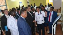 DG Dr Tedros was taken around the Kiambu County Hospital where he also met medical staff and leaders at the County hospital