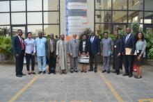 A group photo of WHO and NAFDAC staff after a visit to WHO Nigeria