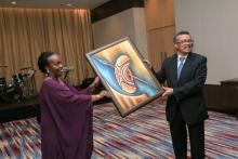 Gift offered by the Minister of Health to DG WHO