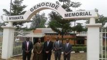 WHO DG with Minister of Health at Nyamata Genocide Memorial Site