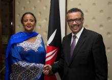 DG with Foreign Affairs Cabinet Secretary Ambassador Amina Mohamed after a meeting in her office in Nairobi