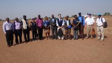 The team posing for a group photo at  Aweil airstrip