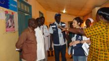 The WHO team conducting a monitoring visit in Wau Teaching Hospital