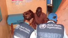 WHO team conducting health service functionality assessment in the stabilization centre