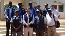 The Joint Mission and the WHO Aweil team posing for a group photo