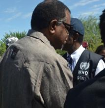 Arrival of the Head of State at the Havana Informal Settlement