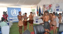 Cultural Performance at the launch of the Lady Pohamba Maternity Waiting Home in Gobabis
