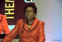 Minister of Health, Dr Jane Ruth Aceng addresses the symposium