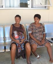 Two of the 40 expectant mothers who are amongst the first intake of the Lady Pohamba Maternity Waiting Home in Gobabis
