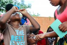 Two children receive OCV on the first day of the campaign in Lilongwe_edited