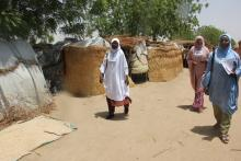 Commumity Health Champions during house-to-house visitation in IDPs camps in Borno_Photocredit_WHO-CEOnuekwe.JPG