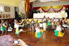 Children performing during the launch