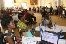 Cross session of participants during the IPC validation workshop in Monrovia