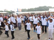Physical exercises were also part of the event