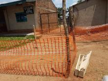 Partial view of the Mangina health centre where first confirmed Ebola patients were treated - WHO- eugene kabambi