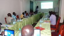 A cross section of participants during the training