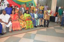 Dr Kaluwa with other dignitaries at the function