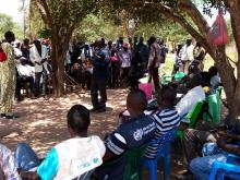 Community engagement for measles campaign and fact finding on health needs in Thian - Yirol