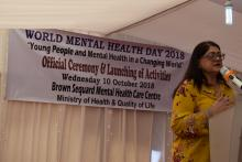 Dr A. Soreefan, Consultant in Charge (Psychiatry) advocating for the integration of mental health in global health as recommended by WHO.