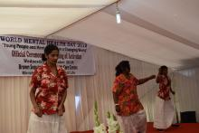 Patients and staff expressing their talents during the cultural programme on the occasion of the World Mental Health Day 2018 in Mauritius