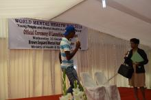Sketch performed by staff and patients during the cultural programme